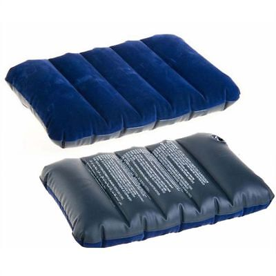 Air Inflatable Pillow 47*28cm Outdoor Portable Folding Flocking Cushion TOP