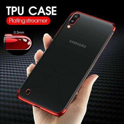 Slim Rubber Electroplate Soft Clear Case For Samsung Galaxy A10 A50 M30 S10 5G