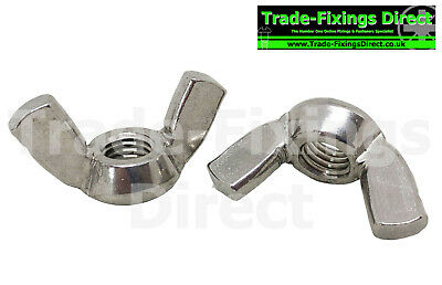 M10 (10Mm) A2 Grade 304 Stainless Steel Wing Nuts Trade-Fixings Direct