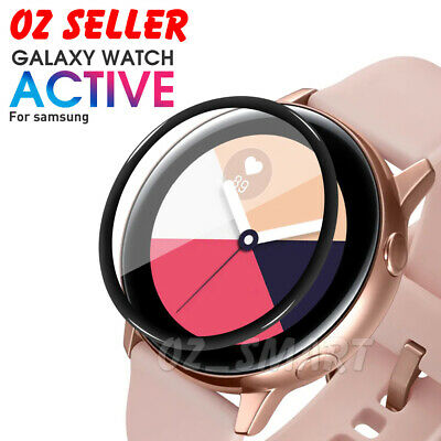 Full Coverage Soft Fiber Glass Screen Protector Samsung Galaxy Watch Active 2
