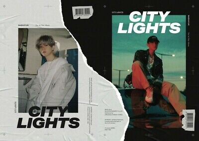 BAEKHYUN [CITY LIGHTS] Album 2 Ver SET+POSTER+2Book+2Lyric+2F.Poster+2Card+GIFT