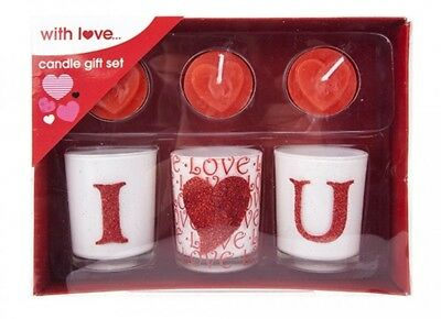 """Perfect Valentine's Day gift """"LOVE"""" 6PC CANDLE GIFT SET"""