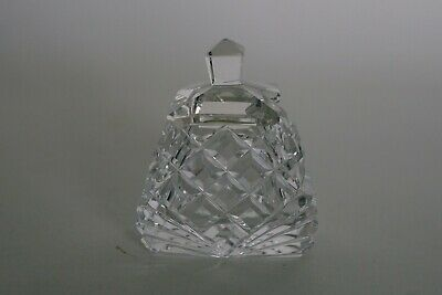 Small Cut Glass / Crystal Mustard Pot & Cover - Well made