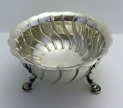 Antique VICTORIAN Heavy 213g Sterling Silver Sugar Bowl in Irish Georgian Style