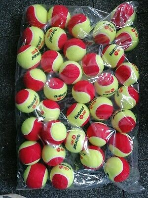 12x Babolat Mini Tennis Coaching Red Junior Tennis Balls - Garden Dogs Party NEW