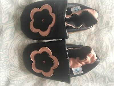 *SECONDS* GIRLS 12-18 MONTHS - Dotty Fish Soft Leather Baby and Toddler Shoes