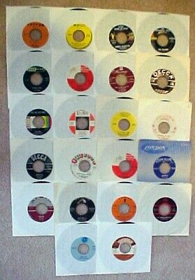 Lot (22) 45 RPM Records 50s 60s Rock Many Higher Retail Values Cond Vary Few Pop