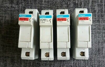 4 Hager Fuse Carrier L113 And L118