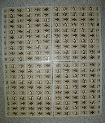 Lot of 82 Stamp Sheets, 1 Pl. Block.US Mint Never Hinged. Below $413 Face Value