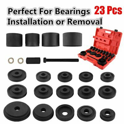 23pc FWD Front Wheel Drive Bearing Removal Adapter Puller Pulley Tool Kit TO