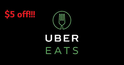 $5 UberEats Credit Code Food Delivery Coupon