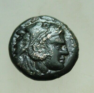 """Kings of Macedon Alexander III """"the Great"""" 336-323 BC, AE19mm 6.2g Heracles Bow"""
