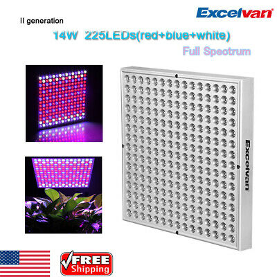 14W 225 LED SMD Grow Light Full Spectrum Growing Hydroponic Indoor Plant Lamp US
