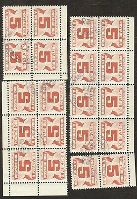 Stamps Canada # J25, 5¢ 1967, lot of 20 used stamps with gum.