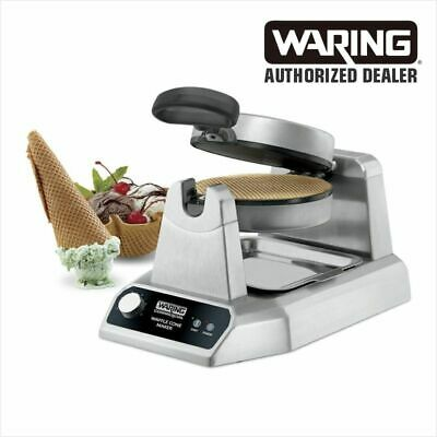 Waring WWCM180 Single Electric Commercial Waffle Cone Maker w/ Cone Roller WOW