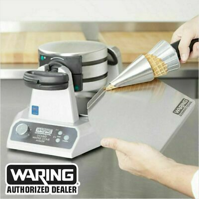 Waring WWCM200 Double Commercial Electric Waffle Cone Maker 120V 1400W