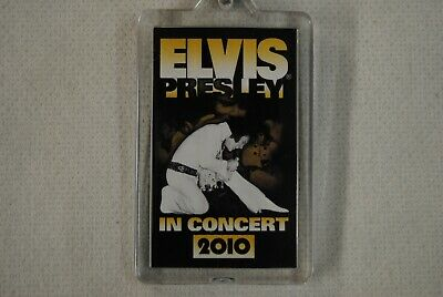 Elvis Presley In Concert 2010 European Tour Keyring Keychain New Official Rare