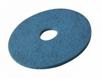 """15"""" Vileda HSB Blue Floor Pads for Buffer Machines -2 boxes of 5 pads"""