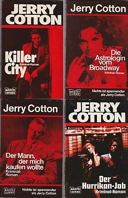 4 Jerry Cotton Romane