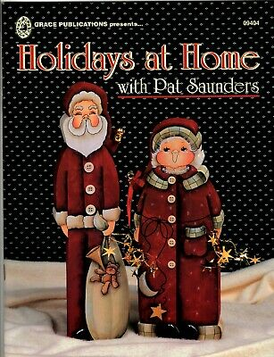 HOLIDAYS AT HOME with Pat Saunders Decorative Painting Pattern Book - Christmas