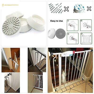 Vkania Baby Pressure Gates Wall Protector - Extra Wide Walk Through Pet Gate wit