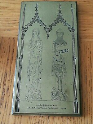 1325 Westley Waterless Cambridgeshire Brass Plate Rubbing Sir John Creke & Lady