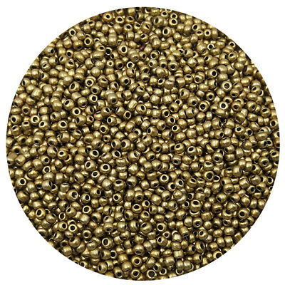 Lot of 2500pcs DIY 11/0 Rocaille 1.8mm Small Round Glass Seed Beads   Golden