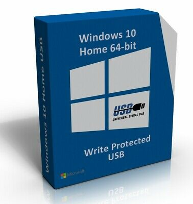 Windows 10 Home 64 Bit Re-Install Restore Repair Recovery Boot Disc Recovery USB