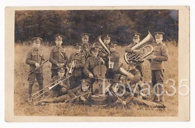 15th/19th KING'S ROYAL HUSSARS, REGIMENTAL BAND - c.WW1 RP Real Photo