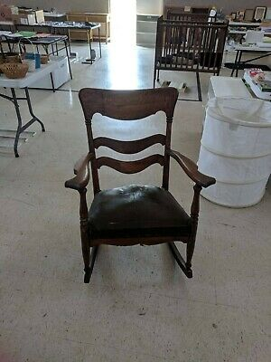 Very Nice antique arts & crafts mission oak stickley rocking chair rocker