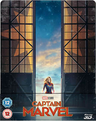 Captain Marvel - 3D + 2D Blu Ray ( Steelbook - Uk Exclusive ), Brie Larson