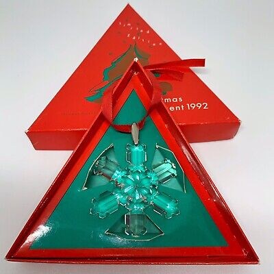 VERY RARE Retired Swarovski Crystal 1992 Christmas Snowflake Star 168690 Boxed
