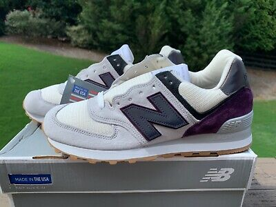 new styles 77c1a fcb80 NEW BALANCE US574M1 574 Classic Made In The Usa Sz 7.5 D Men Encap Grey  Purple