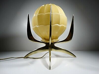 1930´S Art Deco Crown Solid Brass Table Lamp Ornament