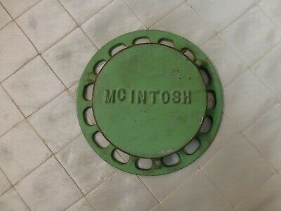 Pipe Metal Cap Cover for Pipe Plumbing Sewage Green McIntosh Decorative Vtg