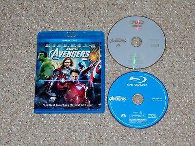 The Avengers Blu-ray/DVD Combo 2012 Canadian Robert Downey Jr. Chris Evans