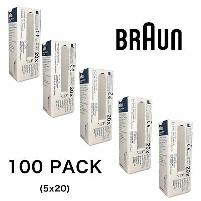 100 x Braun Replacement Lens Filter Probe Covers for ThermoScan Thermometer 6520
