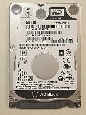 WD Black 500GB - SATA 6 Gb/s 32MB Cache 2.5in HDD - WD5000LPLX Western Digital