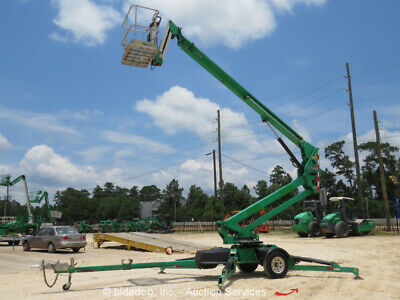 2012 JLG T500J 50' Towable Boom Lift Man Aerial Platform Honda Gas bidadoo