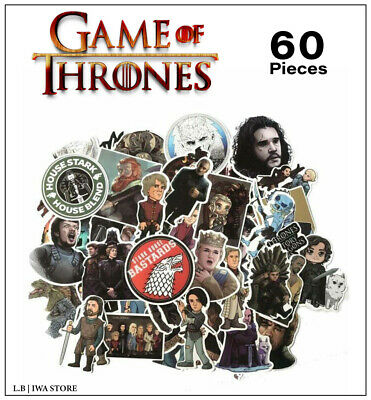 GAME OF THRONES Stickers 60 Pieces home decor pack Decals Vinyl For Lovers GOT