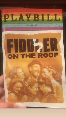 Fiddler on The Roof IN YIDDISH ~ Playbill NYC June 2019