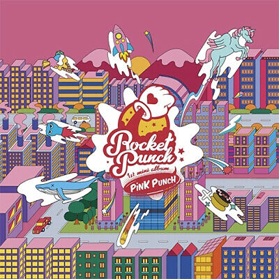 ROCKET PUNCH PINK PUNCH 1st Mini Album CD+POSTER+PhotoBook+2pCard+Sticker SEALED