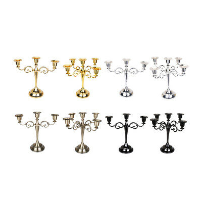 Iron Candle Holder Candelabra Stand Dining Table Candlestick Home Table Decor
