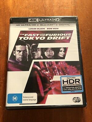 The Fast And The Furious Tokyo Drift 4K + Blu Ray Brand New And Sealed