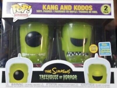 Funko Pop The Simpsons Kang and Kodos GITD 2-Pack SDCC Shared Exclusive Preorder
