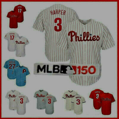 best website 541c3 0434e Philadelphia Jersey 3 Bryce Harper Phillies Stitched Men s Majestic Cool  Base