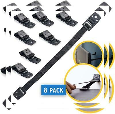 TV and Furniture Anchors for Baby Proofing: Anti Tip Wall Safety Straps Black
