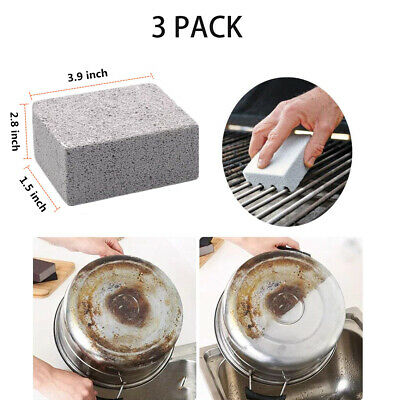 3 Pack BBQ Pumice Grill Cleaner Cleaning Stone Brick Block Barbeue Griddle Tool