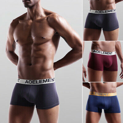 4 Pack Mens Boxers Casual Boxer Shorts Trunks Underpant Briefs Adult Underwear