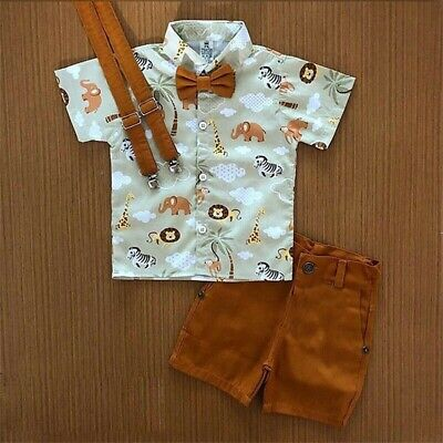 AU 2Pcs Toddler Kids Baby Boy Clothes T Shirt Tops+ Shorts Pants Summer Outfits